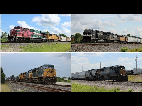 Clips from UP Houston Sub July 2017 ft NS SD60E, CSX SD50, FXE Diexanos, & more!