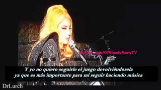 Lady Gaga le responde a los haters (Sub Español)