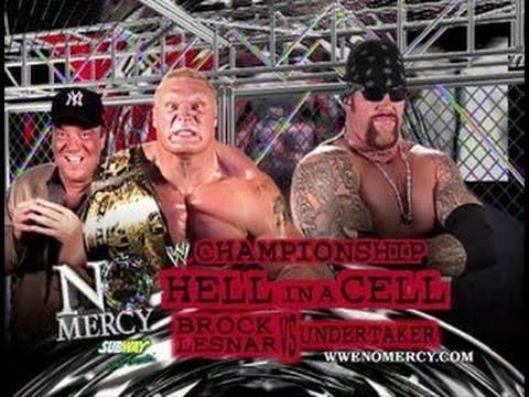 Znalezione obrazy dla zapytania No Mercy 2002 Brock Lesnar (w/Paul Heyman) vs. The Undertaker