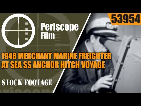 1948 MERCHANT MARINE  FREIGHTER AT SEA  SS ANCHOR HITCH VOYAGE TO SOUTH AMERICA  53954