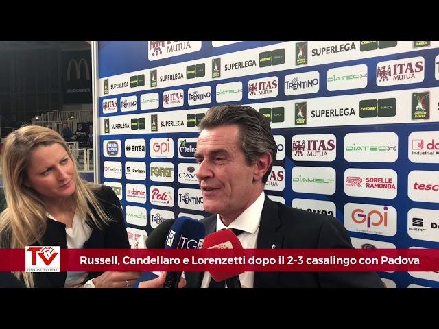 Russell, Candellaro e Lorenzetti dopo il 2-3 casalingo con Padova