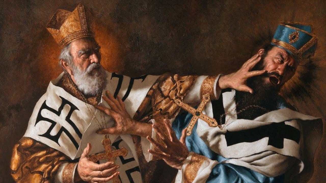 St. Nicholas vs. the Arian Heresy - YouTube