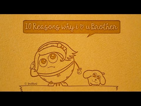 10 reasons why i love you BROTHER | Indigifts