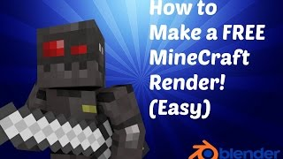FREE Tutorial: How to Make A Minecraft Render/Profile Picture for Free