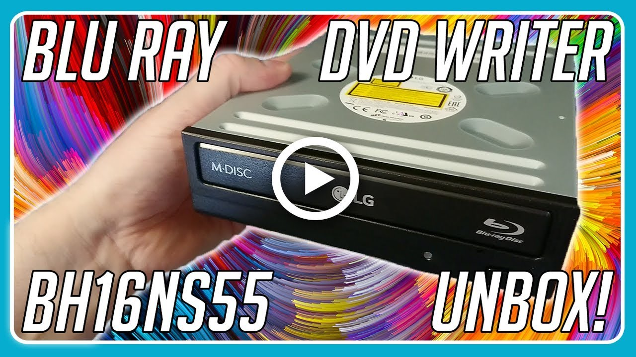 LG BH16NS55 Super Multi Blue BH16 Blu-ray and DVD Writer Unboxing!
