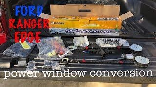 project 2002 Ford Ranger EDGE [part 11] POWER WINDOW CONVERSION!