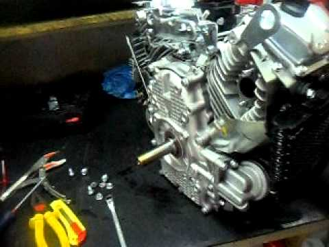 honda gx  twin engine exhaust fire  mufler motor  sem escape youtube