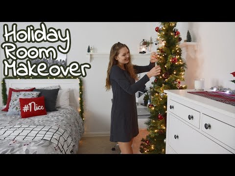 Getting My Room Ready For Christmas! Holiday Bedroom Makeover