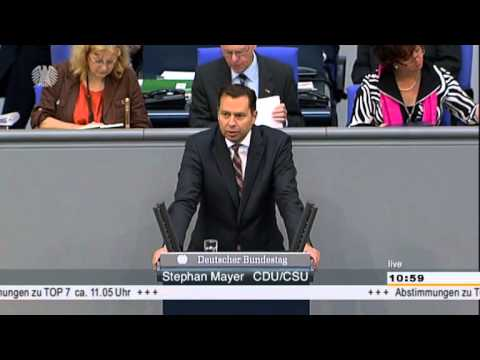 Stephan Mayer (CSU) zur Regierungserklärung zum Bundesvertriebenengesetz (BVFG) im Bundestag