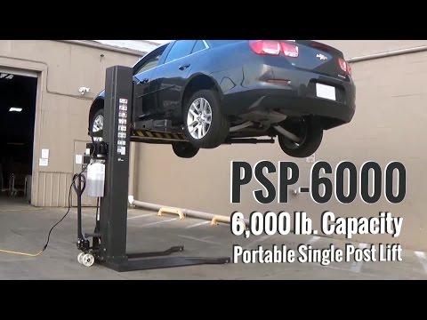 Atlas® PSP-6000 - 6,000 Lb. Portable Single Post Lift