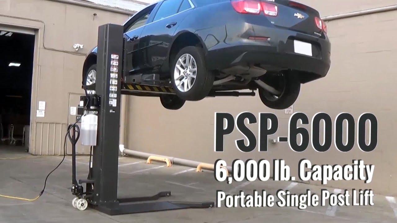 Atlas Psp 6000 6 000 Lb Portable Single Post Lift