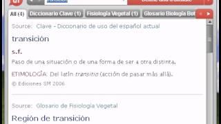 Definición de transición