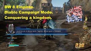 Dynasty Warriors 8 Empires Conquering a Kingdom (Diablo's Scenario)