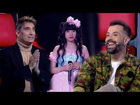 Katherine Zegarra cautivó a Mike Bahía y Guillermo Dávila con gran tema de Evangelion - La Voz Perú