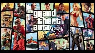 GTA 5 Grand Theft Auto V GamePlay On CRT TV HD with K of G^^