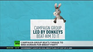 Campaign group Led By Donkeys beats Nigel Farage to Brexit Party domain name