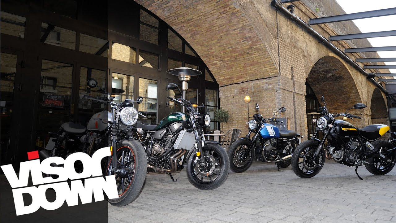 Retro Bike Group Test Yamaha XSR700 Vs Ducati Scrambler Bonneville Street Twin Guzzi V7 II