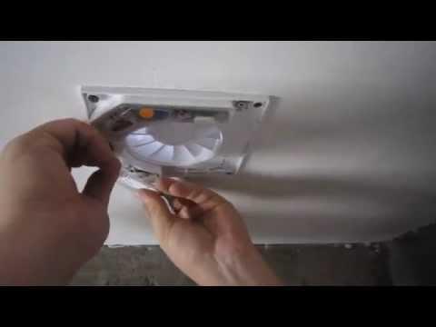 видео: Установка вентилятора в ванной комнате. vents quite 100.