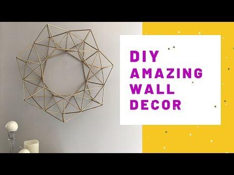 DIY Himmeli Geometric Wall Decor
