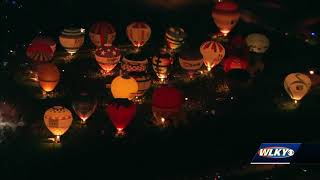 Aerials of the Great Balloon Glow from WLKY Chopper HD