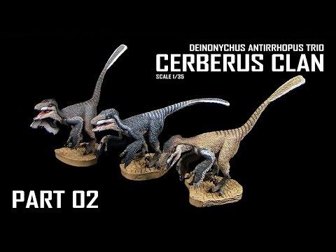 Rebor ™ Deinonychus Antirrhopus Trio - Cerberus Clan - Unboxing & Review - Teil 02