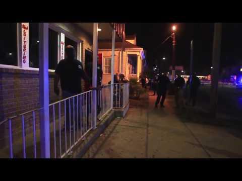 Raw  of Mid-City multiple shooting scene