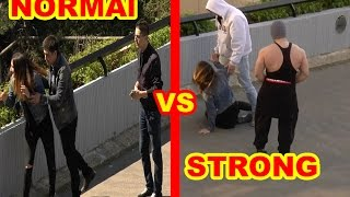 Women abduction by normal Men versus Muscular one