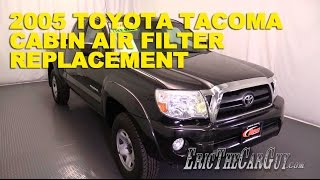 2005-2015 Toyota Tacoma Cabin Air Filter Replacement -Ericthecarguy