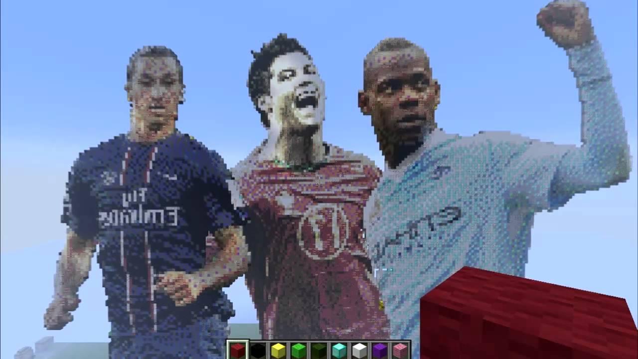 Ronaldo Ibrahimovic Balotelli Pixel Art Minecraft