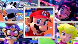 Mario Tennis Aces   All Characters Entrances  All DLC  Dry Bones Pauline Kamek and More