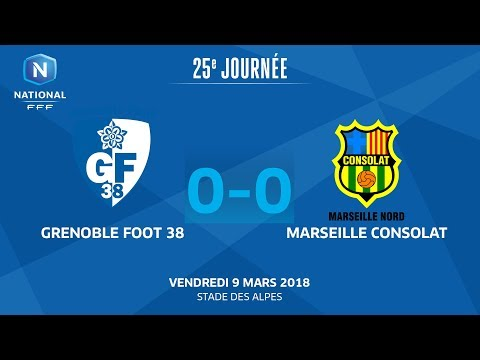 J25 : Grenoble Foot 38 - Marseille Consolat (0-0), le replay I National FFF 2018