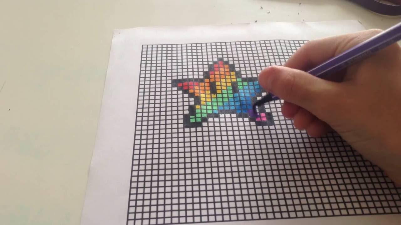 Pixel Art Etoile Mario Multicolore Manette De Console De