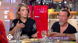 Julie Andrieu et Florent Pagny au dîner - C à Vous - 28/11/2017