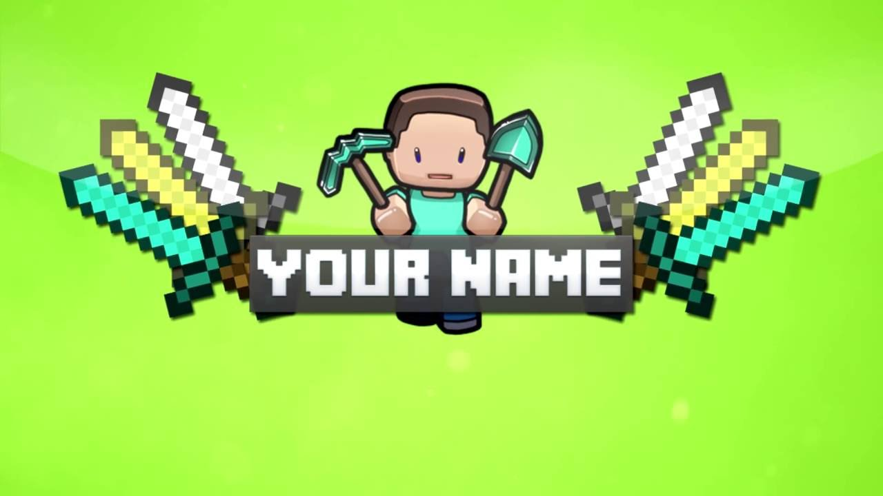 6 free minecraft intro outro template youtube