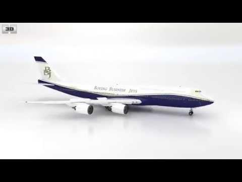 Boeing 747-8I Business Jets by 3D model store Humster3D.com