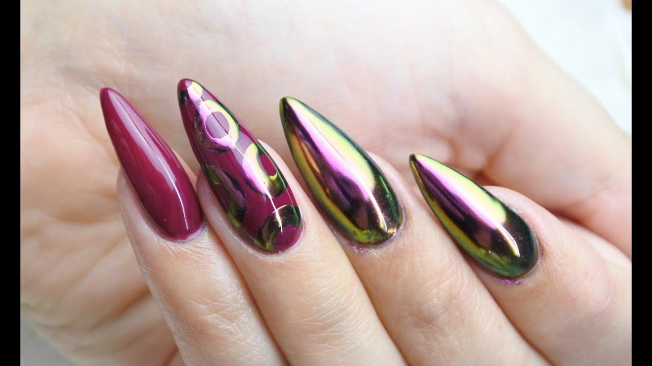 Paznokcie Z Efektem Kameleona Metal Manix Alien Nails Trends