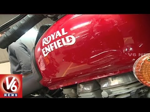 Huge Demand For Royal Enfield Bikes In Hyderabad City In This Festive Season   V6 News