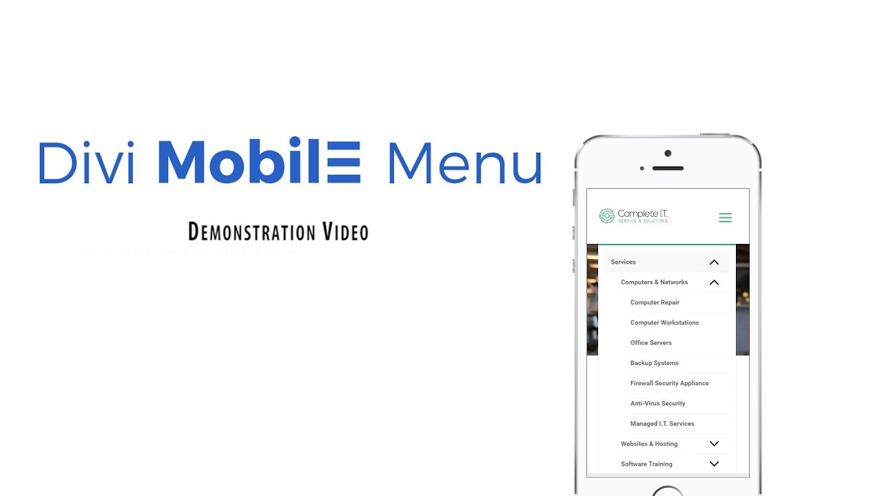Divi mobile menu plugin youtube - Divi mobile menu ...