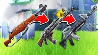 3 PLAYER RANDOM GUN GAME *NEW INFANTRY RIFLE* IN FORTNITE BATTLE ROYALE!
