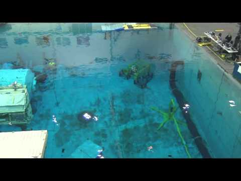 NASA Neutral Buoyancy Lab with Space Station Training Modules