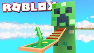 ESCAPE A MINECRAFT CREEPER IN ROBLOX! (Escape the Minecraft Creeper Obby)