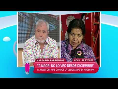 El mensaje de Margarita Barrientos a Mauricio Macri