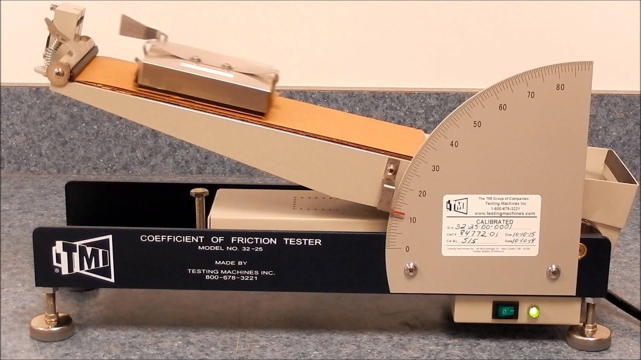 32 25 Coefficient Of Friction Tester Youtube