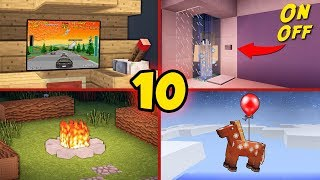 10 Secret Minecraft Builds You Can Build As well! - Tutorial #2