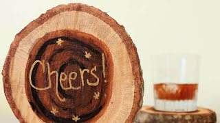 Create Rustic Wooden Coasters - Diy Home - Guidecentral