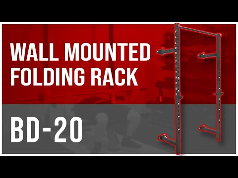 BD-20 Wall Mounted Folding Squat Rack With Pull Up Bar