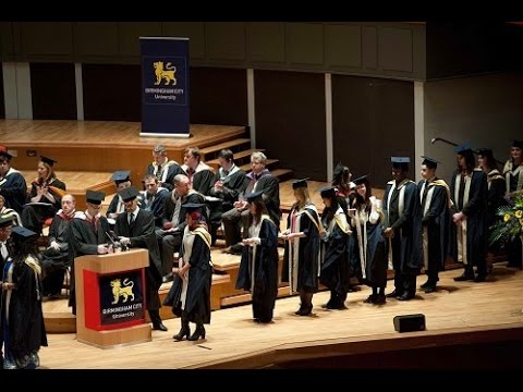 b8fae10e765 Birmingham City University graduation ceremony - Tues 1 September 2015 PM -  YouTube