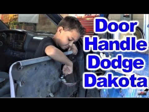 How To Replace Inner Door Handle On 1998 Dodge Dakota By  Howstuffinmycarworks