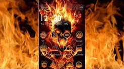 Flaming Skull 3D Android Theme - CM Launcher 3D themes ad