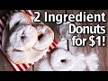 2 Ingredient Donuts for $1! How To Make Easy Donuts!